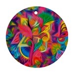 Colorful Floral Abstract Painting Round Ornament
