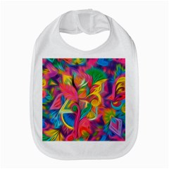 Colorful Floral Abstract Painting Bib by KirstenStar