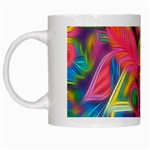 Colorful Floral Abstract Painting White Coffee Mug