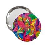 Colorful Floral Abstract Painting Handbag Mirror (2.25 )