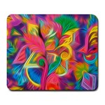 Colorful Floral Abstract Painting Large Mouse Pad (Rectangle)