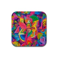 Colorful Floral Abstract Painting Drink Coasters 4 Pack (Square) by KirstenStar