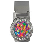 Colorful Floral Abstract Painting Money Clip (CZ)