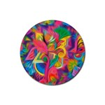 Colorful Floral Abstract Painting Drink Coaster (Round)