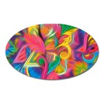 Colorful Floral Abstract Painting Magnet (Oval)