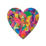 Colorful Floral Abstract Painting Magnet (Heart)