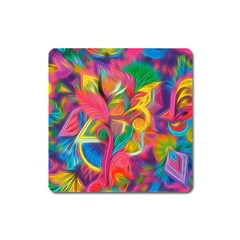 Colorful Floral Abstract Painting Magnet (Square) by KirstenStar