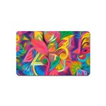 Colorful Floral Abstract Painting Magnet (Name Card)