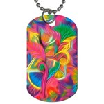 Colorful Floral Abstract Painting Dog Tag (One Sided)