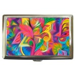Colorful Floral Abstract Painting Cigarette Money Case
