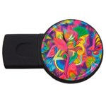 Colorful Floral Abstract Painting 2GB USB Flash Drive (Round)