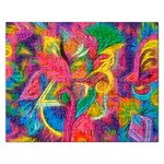 Colorful Floral Abstract Painting Jigsaw Puzzle (Rectangle)