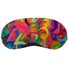 Colorful Floral Abstract Painting Sleeping Mask by KirstenStar