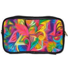 Colorful Floral Abstract Painting Travel Toiletry Bag (one Side) by KirstenStar