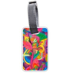 Colorful Floral Abstract Painting Luggage Tag (two Sides) by KirstenStar