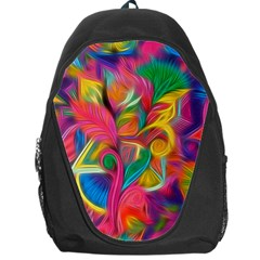 Colorful Floral Abstract Painting Backpack Bag by KirstenStar