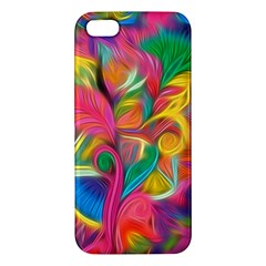 Colorful Floral Abstract Painting Apple Iphone 5 Premium Hardshell Case by KirstenStar
