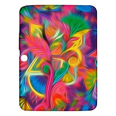 Colorful Floral Abstract Painting Samsung Galaxy Tab 3 (10 1 ) P5200 Hardshell Case  by KirstenStar