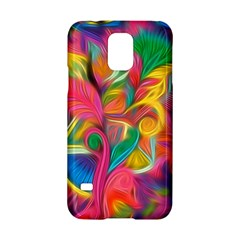 Colorful Floral Abstract Painting Samsung Galaxy S5 Hardshell Case  by KirstenStar
