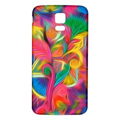 Colorful Floral Abstract Painting Samsung Galaxy S5 Back Case (white) by KirstenStar