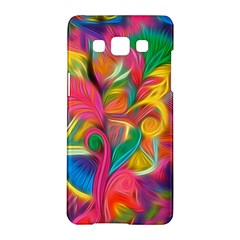 Colorful Floral Abstract Painting Samsung Galaxy A5 Hardshell Case  by KirstenStar