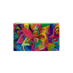 Colorful Floral Abstract Painting Cosmetic Bag (xs) by KirstenStar