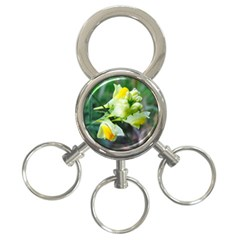 Linaria Flower 3 Ring Key Chain by ansteybeta