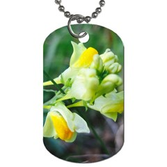 Linaria Flower Dog Tag (two Sided)  by ansteybeta