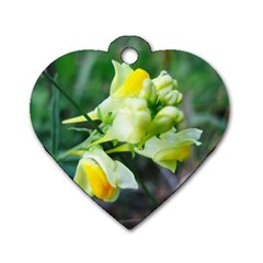 Linaria Flower Dog Tag Heart (Two Sided) by ansteybeta