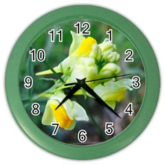 Linaria Flower Wall Clock (color) by ansteybeta