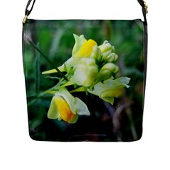 Linaria Flower Flap Closure Messenger Bag (l)