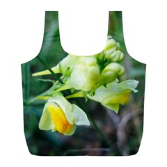 Linaria Flower Reusable Bag (l) by ansteybeta