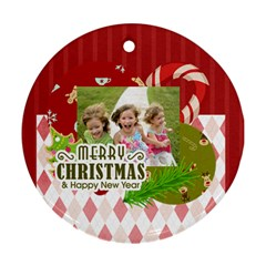 Xmas By Xmas   Round Ornament (two Sides)   M8s9qclcj2ta   Www Artscow Com Front