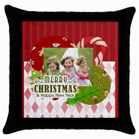 Xmas By Xmas   Throw Pillow Case (black)   8m1uit1klqum   Www Artscow Com Front