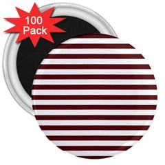 Marsala Stripes 3  Button Magnet (100 Pack) by ElenaIndolfiStyle