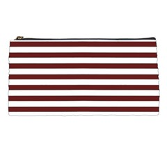 Marsala Stripes Pencil Case
