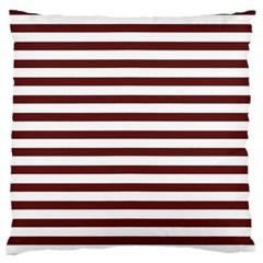 Marsala Stripes Large Flano Cushion Case (one Side) by ElenaIndolfiStyle