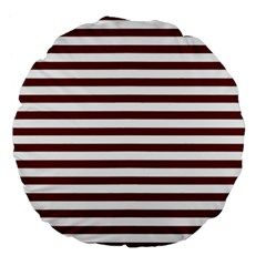 Marsala Stripes Large 18  Premium Flano Round Cushion