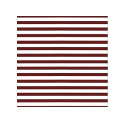 Marsala Stripes Small Satin Scarf (square)