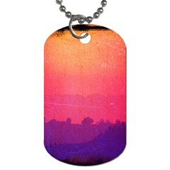 Orange Pink Purple Sunset Dog Tag (One Sided) by stineshop
