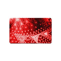 Red Fractal Lace Magnet (name Card) by KirstenStar