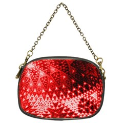 Red Fractal Lace Chain Purse (Two Sided)  by KirstenStar