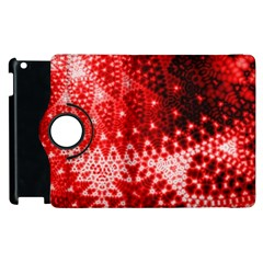 Red Fractal Lace Apple Ipad 3/4 Flip 360 Case by KirstenStar