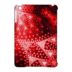 Red Fractal Lace Apple Ipad Mini Hardshell Case (compatible With Smart Cover) by KirstenStar