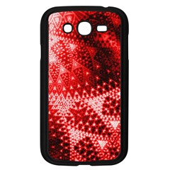 Red Fractal Lace Samsung Galaxy Grand Duos I9082 Case (black) by KirstenStar