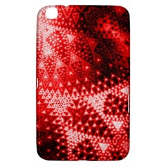 Red Fractal Lace Samsung Galaxy Tab 3 (8 ) T3100 Hardshell Case  by KirstenStar