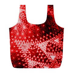 Red Fractal Lace Reusable Bag (l)