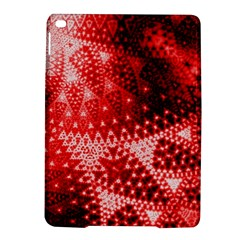 Red Fractal Lace Apple Ipad Air 2 Hardshell Case