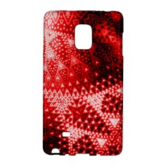 Red Fractal Lace Samsung Galaxy Note Edge Hardshell Case