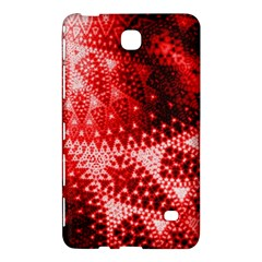 Red Fractal Lace Samsung Galaxy Tab 4 (8 ) Hardshell Case  by KirstenStar